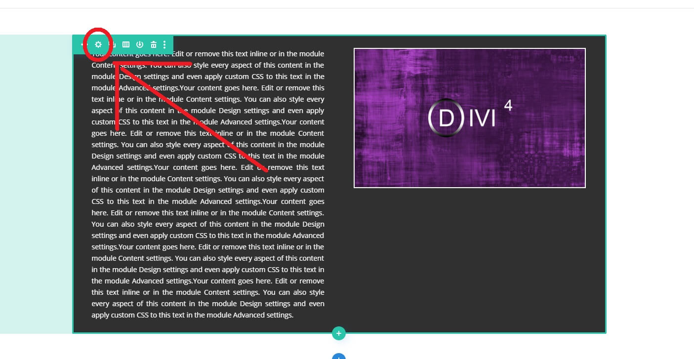 Comment aligner verticalement le contenu avec Divi 45