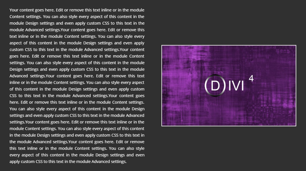 Comment aligner verticalement le contenu avec Divi 2