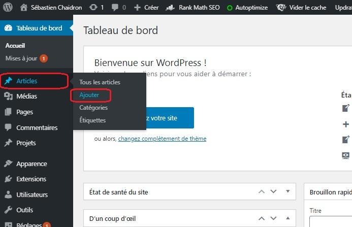 Guide : ajouter une page optimisée pour le référencement Google sur WordPress avec Rankmath. 3
